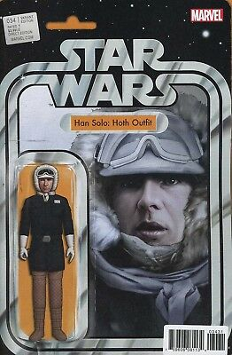 Star Wars #34 Han Solo Hoth Action Figure Variant Marvel Comics Near Mint
