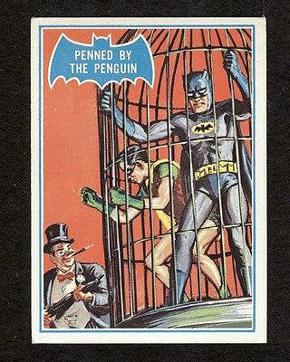 "1966 Topps Batman RARE BLUE BAT CARD #16B ""Penned by the Penguin"""