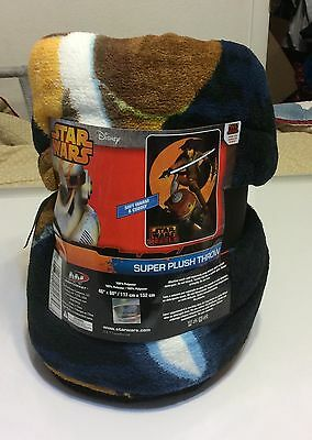 Disney, Star Wars Rebels, Super Plush Soft Throw Or Blanket, 46 X 60 Inches, Nwt