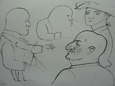 "GEORGE GROSZ - Lithographie 1921 ""Haifische"" !!"