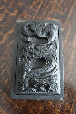 Old Chinese / Korean Dragon Calligraphy Ink Stone