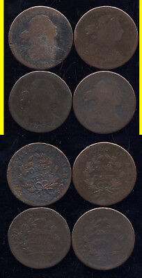 Lot Of 4 Draped Bust Large Cents- 1800-1802-1807-1807/6- No Reserve