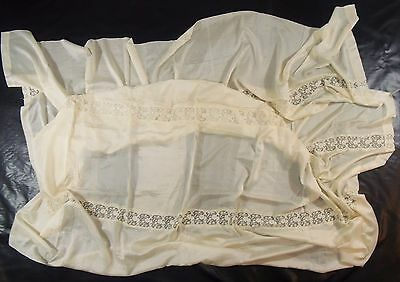 """[KM10] Lovely Antique Embroidered Curtain Panel 64""""x80"""""""