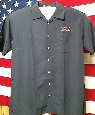 Tequila Embroidered Short Sleeve Shirt Mens Corralejo Black  Size 2XL New