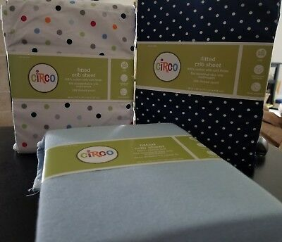 fitted crib sheets new in package! cotton with soft finish 200 thread count!