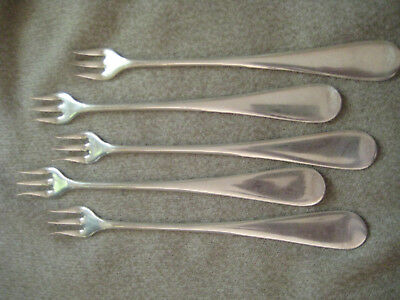 Lot of 5 Rogers Silverplate Pickle / Cocktail Seafood Forks