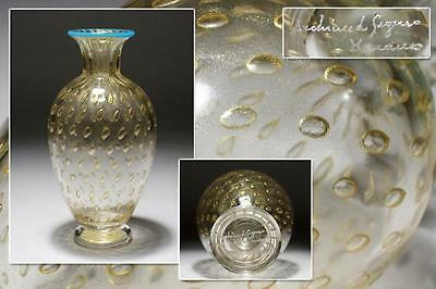 Stunning Vintage Signed C. 1950S Archimede Seguso Murano Art Glass Vase Italy
