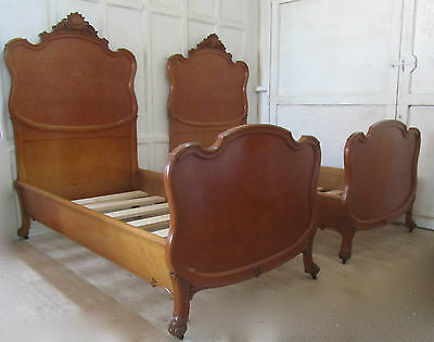 Pair of Art Deco Louis XV Style French Twin Beds