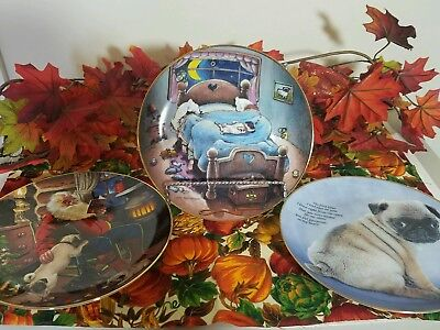 Pug Dogs Collector Plates Gary Patterson/Danbury Mint