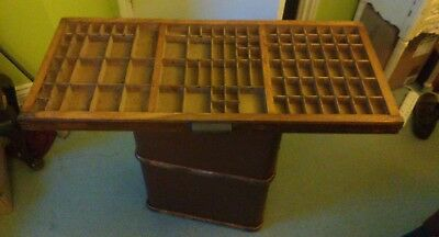 PRINTERS TRAY, vintage typesetter print tray/ drawer, Wall Display