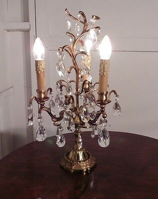 A Magnificent French Girandole, 3 Lamp Table Chandelier