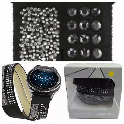 Swarovski for Samsung Smartwatch Band for Gear S2 Black 20mm GP-R732SWEEADB