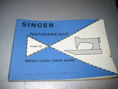 Vintage Singer Featherweight 221 Instructions White Models