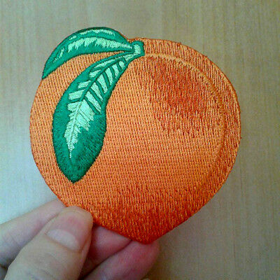 Peach - Fruit - Georgia - Florida - Embroidered Iron On Applique Patch