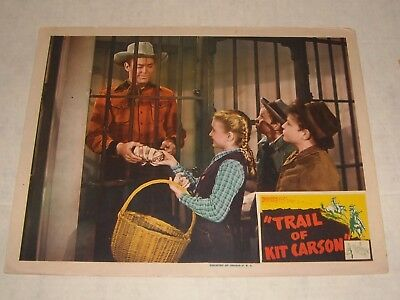 1943 Republic Pictures TRAIL of KIT CARSON LOBBY CARD ALLAN LANE WESTERN