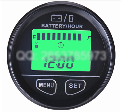 Voltage Gauge Meter Battery Hour Meter 12V24V36V48V RSOC Remaining Capacity Test