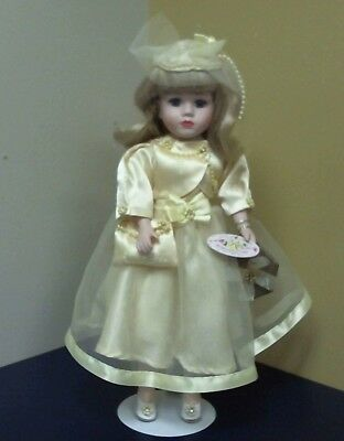Victorian Rose Beautiful Porcelain Doll Yellow 1998 Limited Collectors Edition