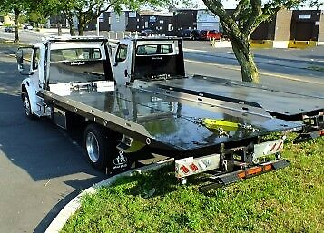New 2018 Freightliner M2 w/ WeldBuilt 22' Smooth Plate Flatbed Carrier