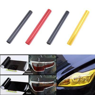 "Universal 12""x47"" Auto Car Headlight Tailight Fog light Tint Film Sticker Sheet"