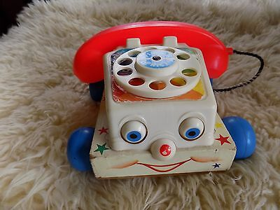 Vintage 1961 Fisher Price Pull Toy Telephone