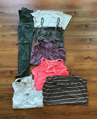 Womens Juniors Huge Clothing Lot of 7 Size Medium M 28 American Eagle Tops Jeans