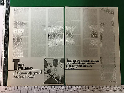 Tony Williams drummer article from early 1980