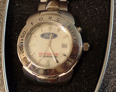 FORD Logo Watch Vintage (New Old Stock) IN TIN LOGO CASE - RARE FIND!