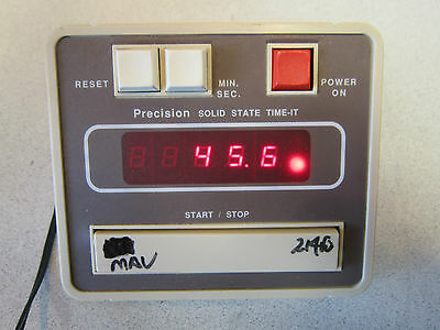 Precision Solid State Time-It SN 10AY-8 9V; 7.5W; .82A; 60Hz Powers On LOOK HERE
