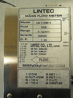 Lintec Mass Flow Meter LM-1100M-5, Range-0.1g/min, Great Price for this Model!