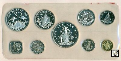 1973 Bahamas 9 Coins Proof  Set  with Box & Certificate(OOAK)