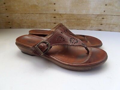 Dansko Women's Brown Leather Thong Sandals Flip Flops Size 39