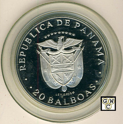 1974 Republic of Panama 20 Balboas Sterling Silver Coin (OOAK)