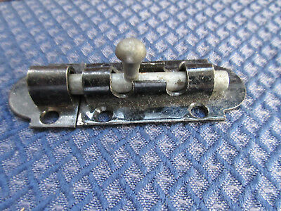 "Vintage Stanley  3 1/2 "" security lock door old Slide Latch barrel bolt Small"