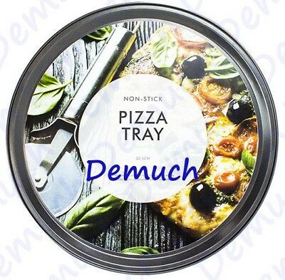New Non Stick PIZZA TRAY 12 Inch Carbon Steel Baking Round Oven Tray PIZZA PAN ✔