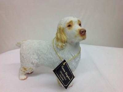 Canine Kingdom Collectable Figurine Clumber Spaniel Dog White Golden
