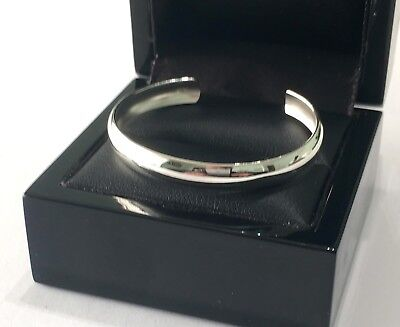 925 Sterling Silver Baby/childs Bangle Christening/gift