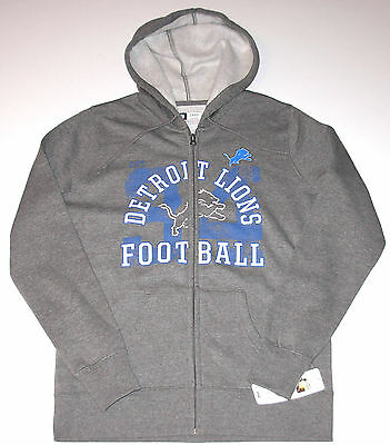 Detroit Lions Full-Zip Hoodie Women's size Medium or Large, Gray, New w/Tag