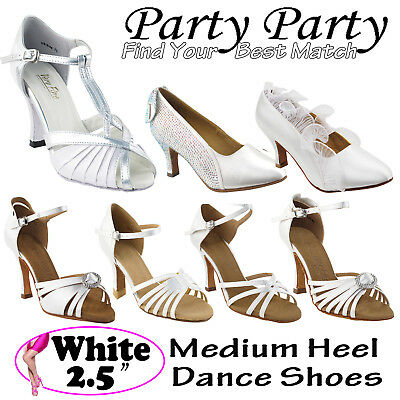 "~50 SHADES of WHITE~ 2.5"" Heel Dance Dress Shoes Collections-I by Party Party"