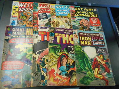 Marvel Comics Silver Age Lot Tales of Suspense, Journey into Mystery, Sgt Fury