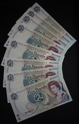 2015 Isle of Man £5 Couch  M --->> UNC/MINT <<--- (8)