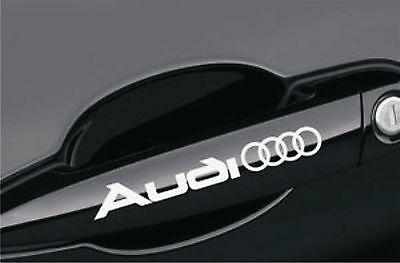 4X AUDI Handle Decals Stickers Any Colour