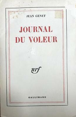 "Jean Genet- Softcover Book; ""Journal Du Voleur,"" Signed on the Title Page"