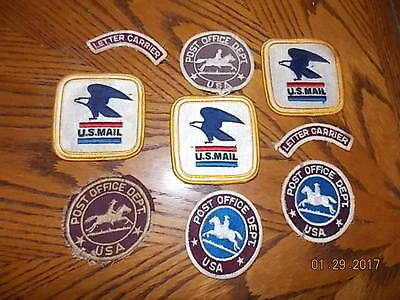 Lot of Vintage Cloth POST OFFICE PATCHES Very Old to Current