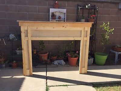 Fireplace Mantle surround faux made from Pine shelf
