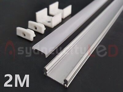 2M Aluminium Channel  Alloy Profile Heat Sink LED Strip Light 5050 3528 Op Cover