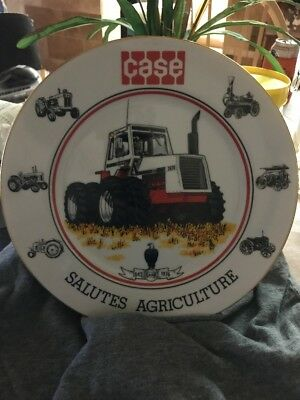 """CASE 10"""" Collectors Dinner Plate ~ Tractor's 1842-1976 Salutes Agriculture"""