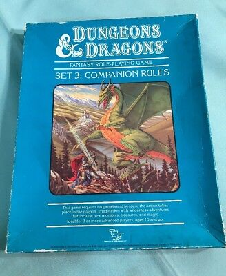 Dungeons and Dragons Set 3 TSR Role Playing Game Companion Rules