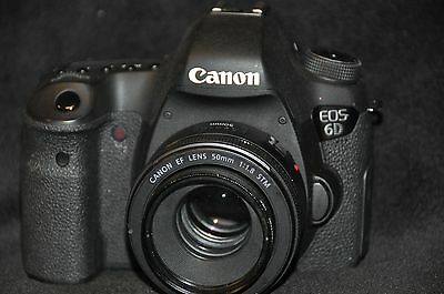 Canon EOS 6D 20.2mp Digital SLR  With Canon EF 50mm 1.8 STM Lens  No Reserve