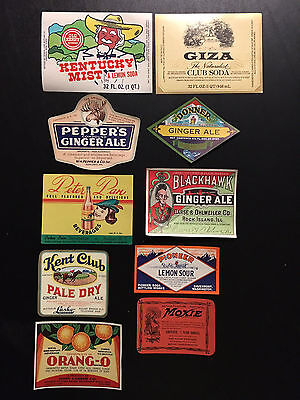 "Vintage & Original Lot of Thirty (30) SODA Labels ""NOS"""