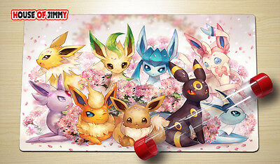 FREE TUBE Yugioh Playmat Play Mat Large Mouse Pad Pokemon #040
